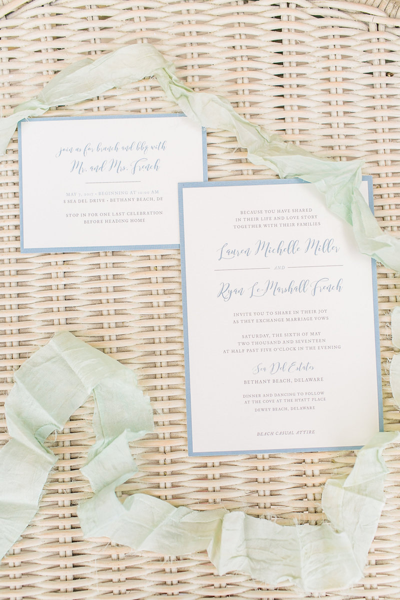 Anenomes and Sea Breeze | Dusty Blue Wedding Invitations for Bethany ...