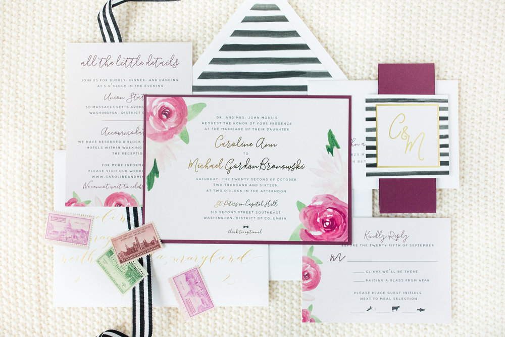 striped-watercolor-wedding-invitation-third-clover-paper-katelyn-james-photography