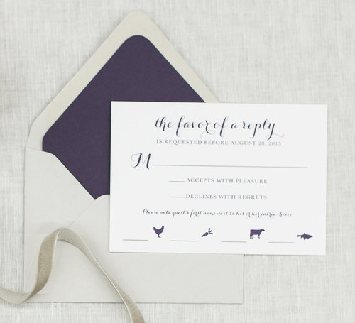 how to write your wedding response card third clover stationery