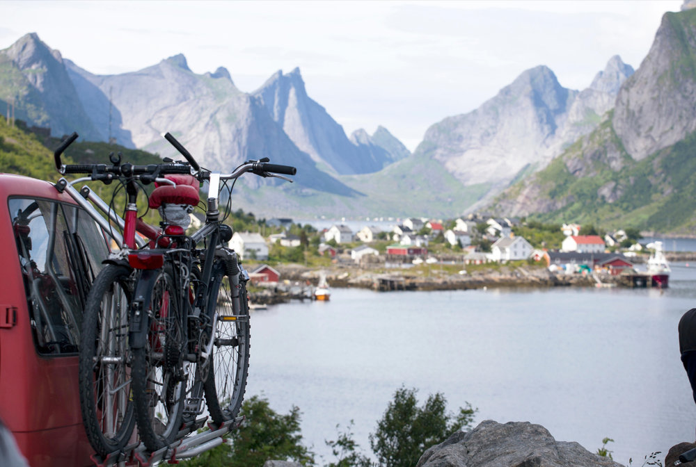 It is typically Scandinavian to have beautiful    MOUNTAINS