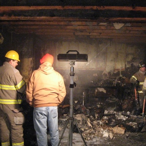 RESIDENTIAL GARAGE FIRE DAMAGE