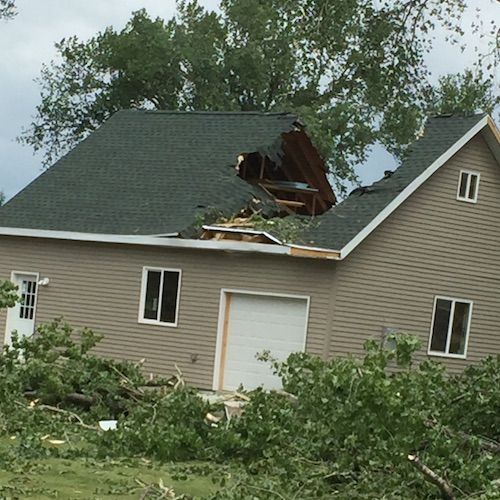 STRUCTURAL DAMAGE FROM STORM