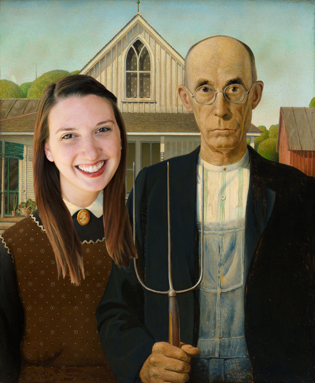 This is pretty accurate, considering Columbus has our own  American Gothic   mural in the Short Nor  th