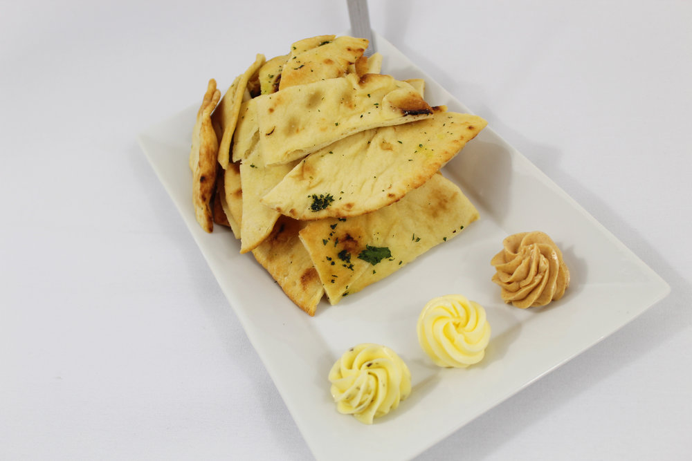 Flatbread with Flavored Butters