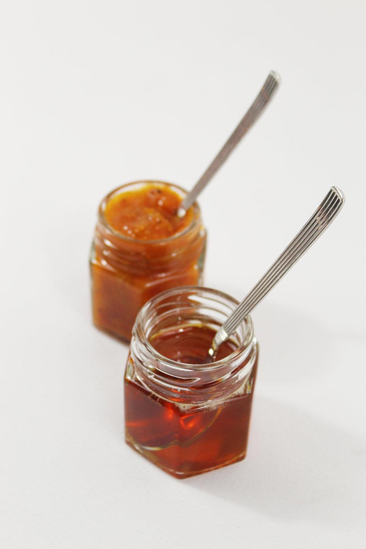 Heirloom Tomato Jam & White Balsamic- Honey Reduction