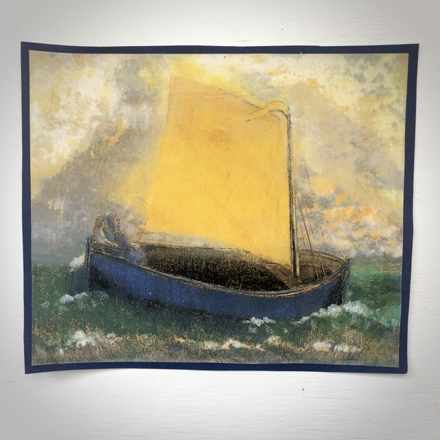 Print of The Mysterious Boat by Odilon Redon