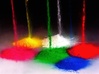 powder caot in colors