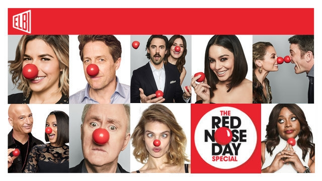 Elbi Turned Red for Red Nose Day USA 2018