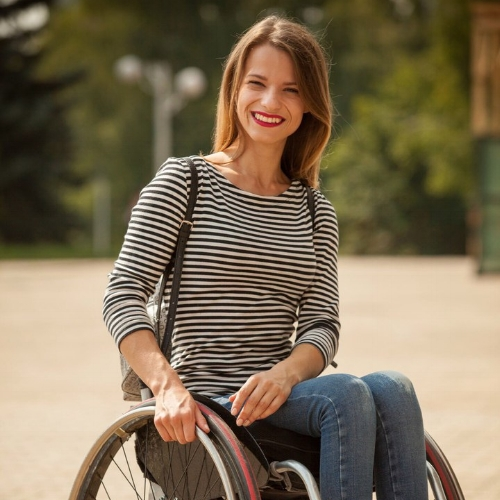 Aleksandra Chichikova    Miss Wheelchair World, Belarus   For using her title, status and platforms to promote awareness about the sexual and reproductive health of people with disabilities.