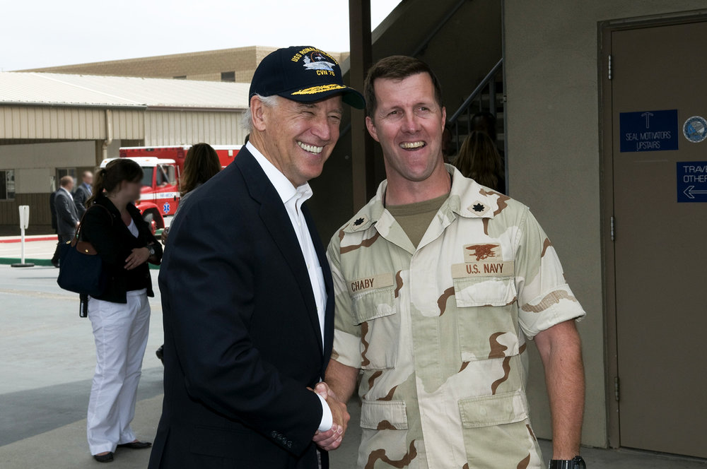 Tom and former Vice President Joe Biden