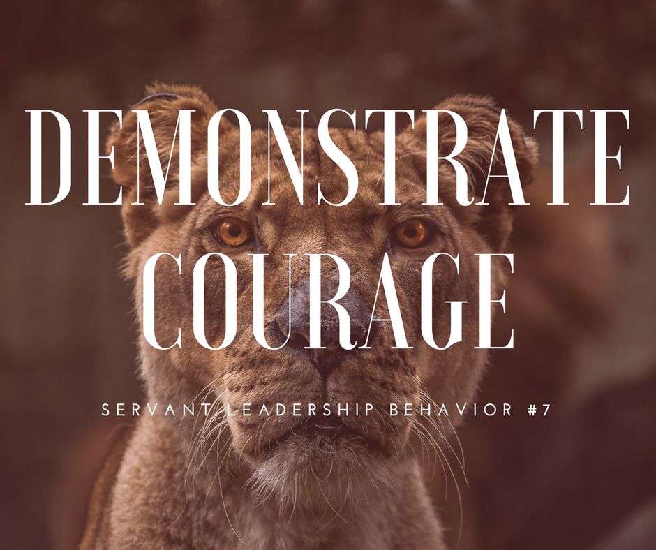 behavior 7 demonstrate courage