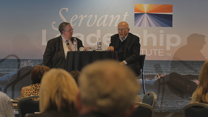 Art Barter and Ken Blanchard during the 2016 Servant Leadership Conference