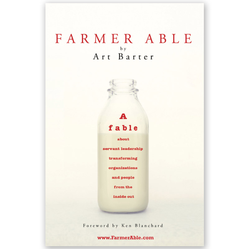 """Farmer Able - A fable about servant leadership transforming organizations and people from the inside outSo begins the story of Farmer Able. Everyone on his farm—people and animals alike—are downright downtrodden by him. He's overbearing and compulsively obsessed with profits and productivity. He's a typical top-down, power-based manager, forever tallying production numbers in his well-worn ledgers. But the more he pushes the hoofs and horns and humans, the more they dig in their heels. That is until one day when he hears a mysterious wind that whispers: """"It's not all about me."""" Can he turn things around and begin attending to the needs of those on his farm, thus improving their attitudes and productivity?Farmer Able is an engaging parable that entertains as it enlightens. It reveals a profound truth about the dysfunction in organizations and how dramatic improvements can be made when leaders liberate employees to operate at their fullest potential and discover the significance in their work."""
