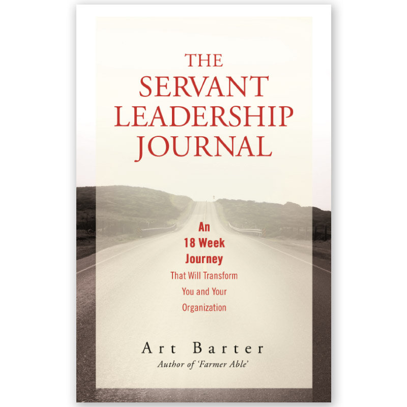 "The Servant Leadership Journal - An 18 Week Journey That Will Transform You and Your OrganizationServant leadership is a form of leadership that turns the traditional organization chart upside down; the leader exists to serve the people he leads. In the Servant Leadership Journal, author and servant leadership implementer Art Barter teaches nine behaviors necessary to grow into a servant leader. Through the journaling process, these behaviors will change your mindset about leading in your personal life and your organization. You can join us on this journey by changing your leadership behaviors—reaping rewards you never thought possible. There are four distinct steps that are key to effective journaling: Educate yourself on the meaning of each behavior. Understand where you are with each behavior. Be courageous to see the real you. Apply what you are learning to your life. What specific areas do you want to improve? Reflect by recording the results of your journey. Let's change that old, worn out saying, ""Walk the talk"" to ""Behave your talk.TM "" Show others you are serious about becoming a different type of leader—one who can be trusted to act the same way you talk."