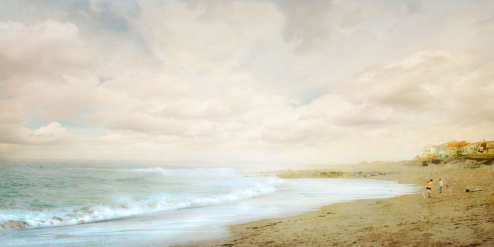 Surf Casters 40x20 Photo on Canvas
