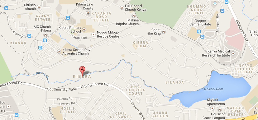 Even today, few of Kibera's resources appear on Google Maps.