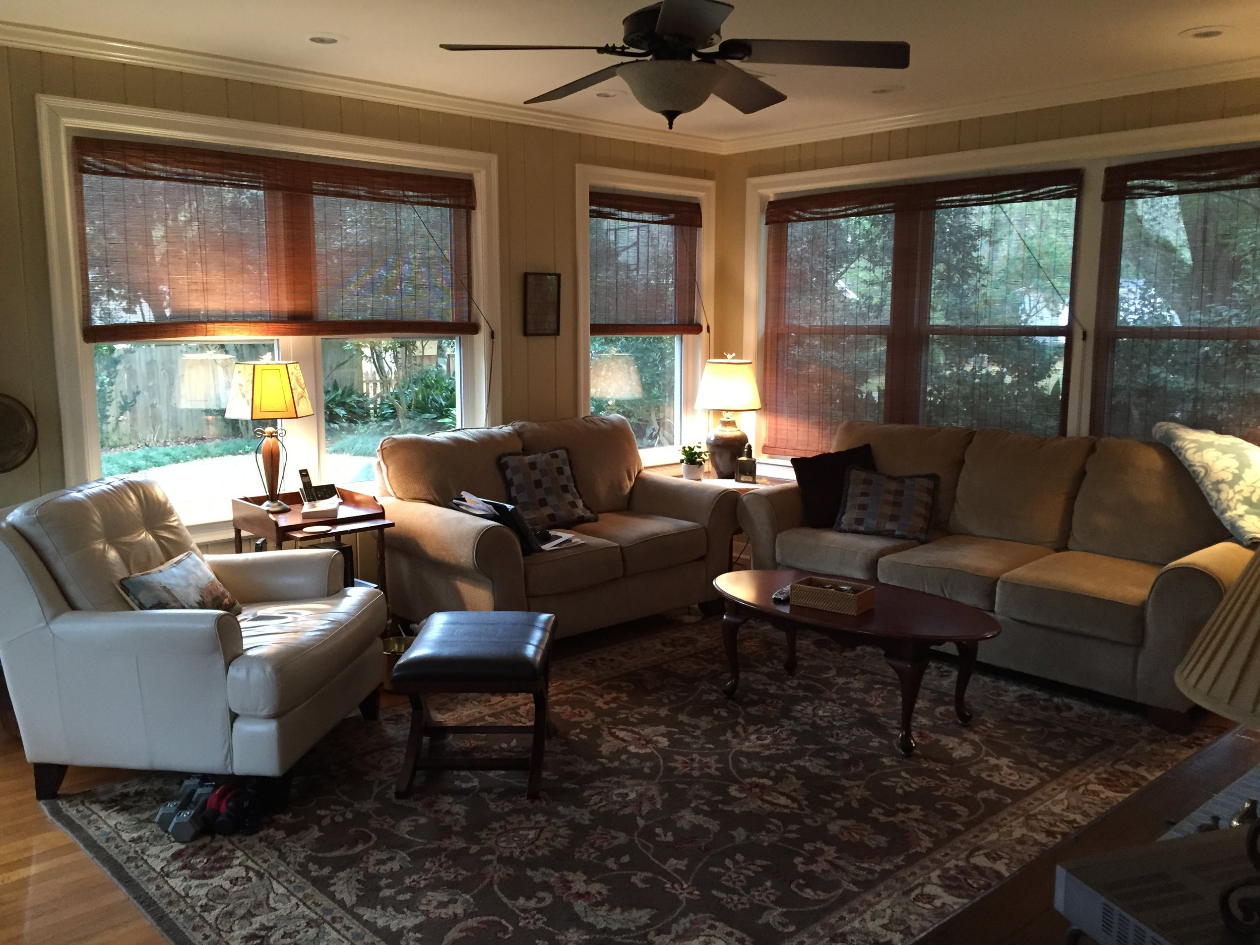 Family Room Before - Jennifer Taylor Design
