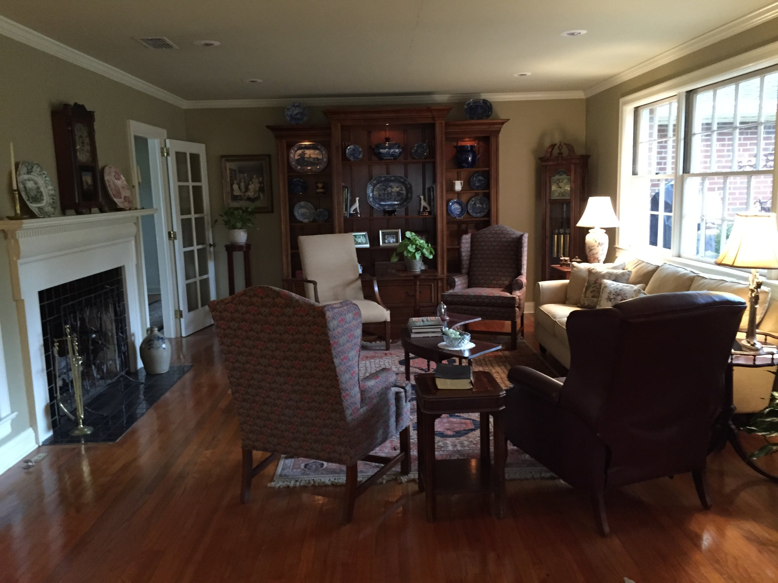 Living Room Before - Jennifer Taylor Design