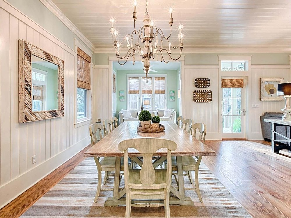 WaterColor Dining Room - AFTER - Jennifer Taylor Design, Tallahassee, Florida