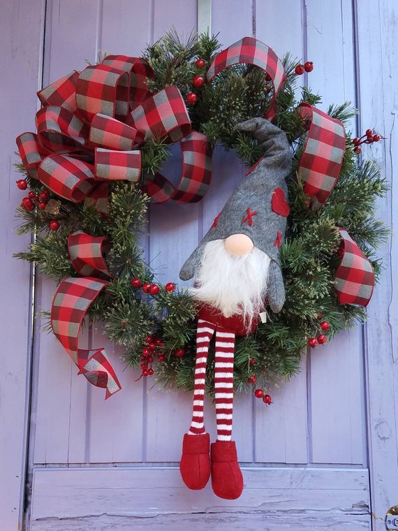 Etsy Gnome Wreath