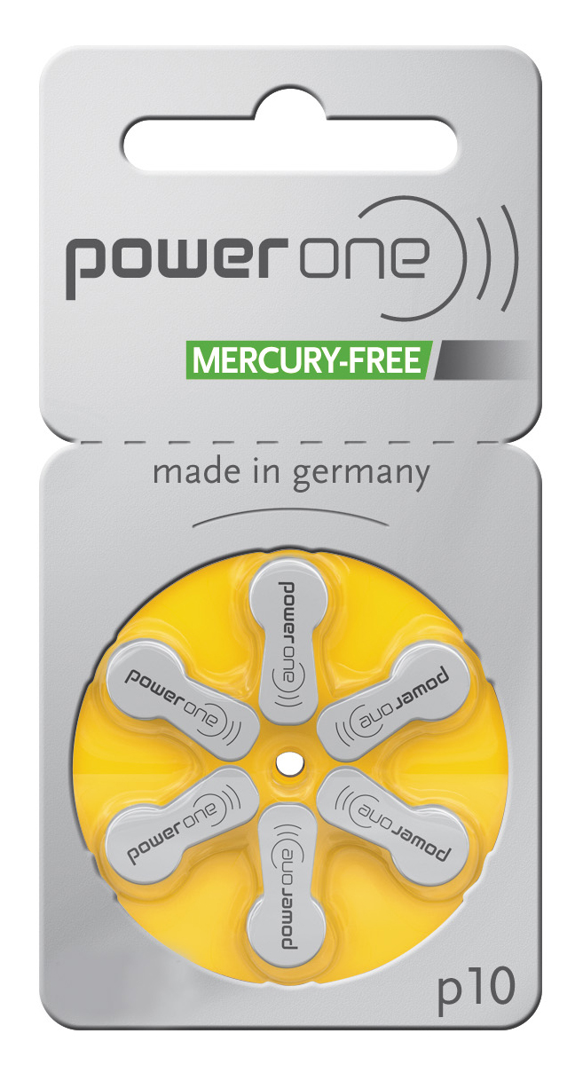 PowerOne Hearing Aid Batteries Size 10 - 60 Batteries