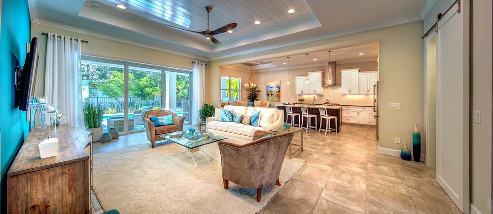 Great Room Living Luxury Sarasota Florida New Home Community