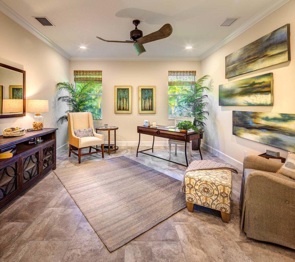 Private Study Sarasota Model Home