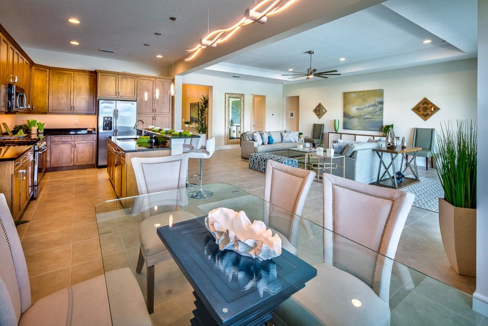 Pool Front Dining Sandhill Lake Sarasota New Community