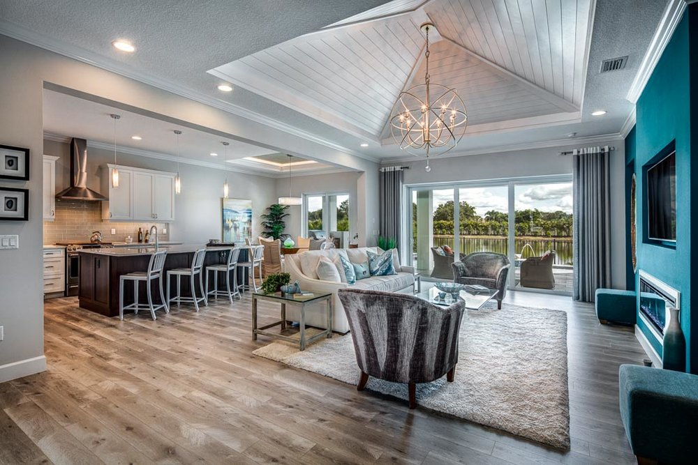 Unique Great Room Design at Sandhill Lake