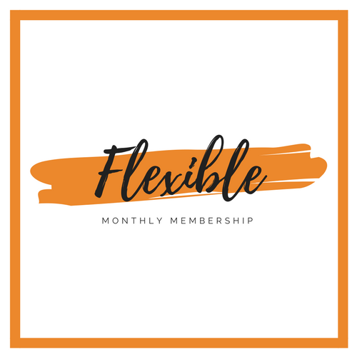 Flexible Monthly Membership     $49 per month  4 Classes per Month  Automatic Monthly Payments  2 Month Minimum  2 weeks notice to cancel