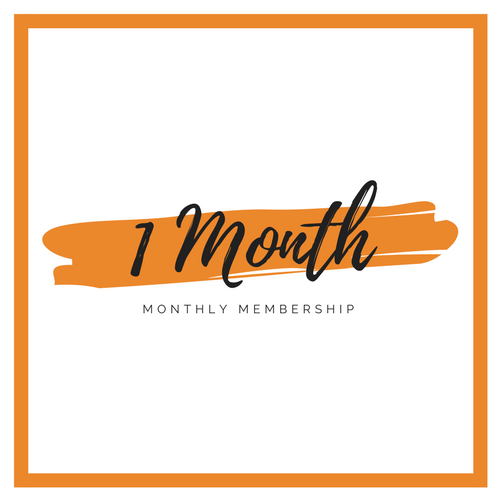 1 Month Unlimited Membership    $120 per month  Unlimited Classes  No auto renew  No minimum
