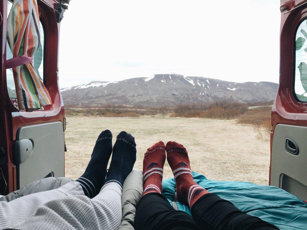 Sleeping at Þingvellir National Park
