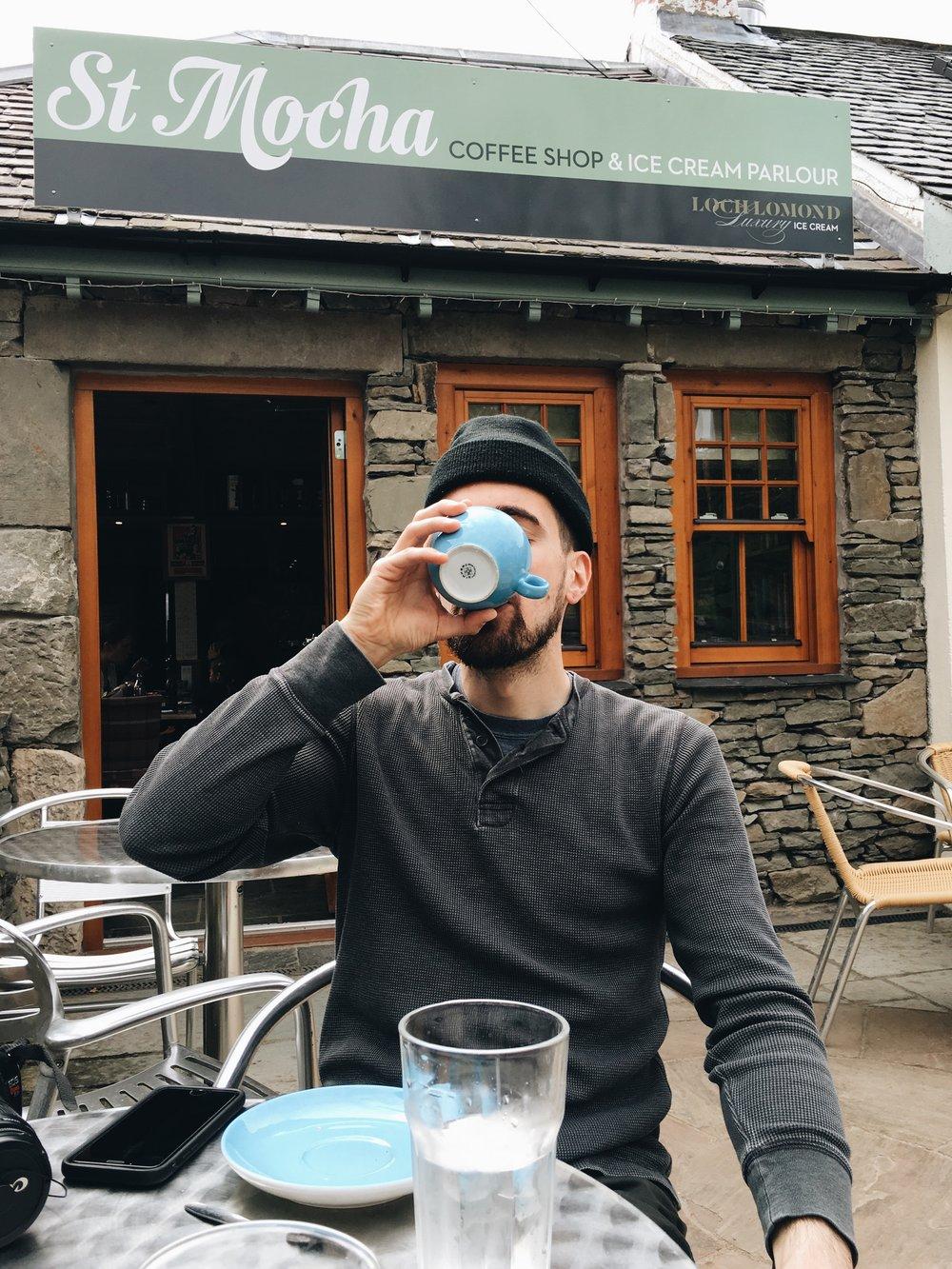 coffee stop at loch lomond