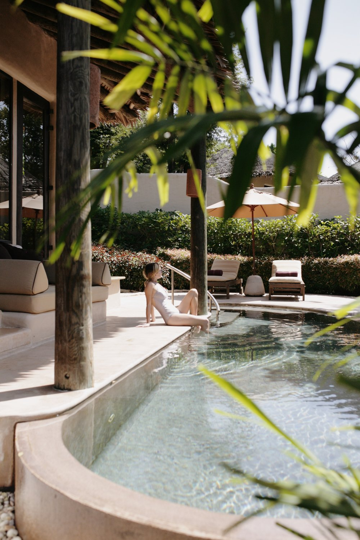 our villa's private pool