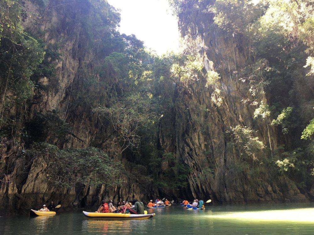 kayaking inside another secret cave pool