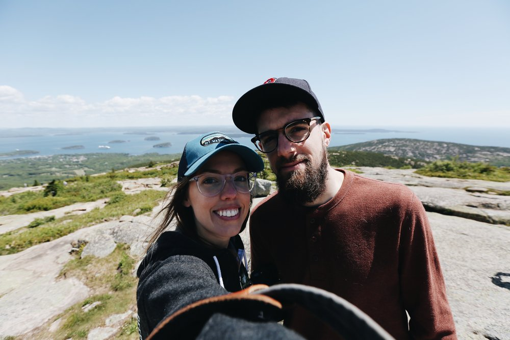 us on top of cadillac mountain