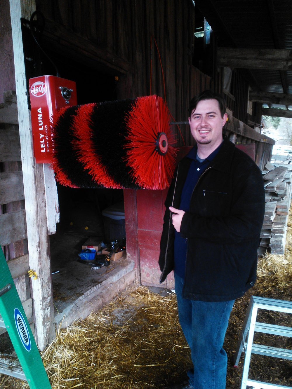 My buddy Eric helped get it set up at the old barn in 2014