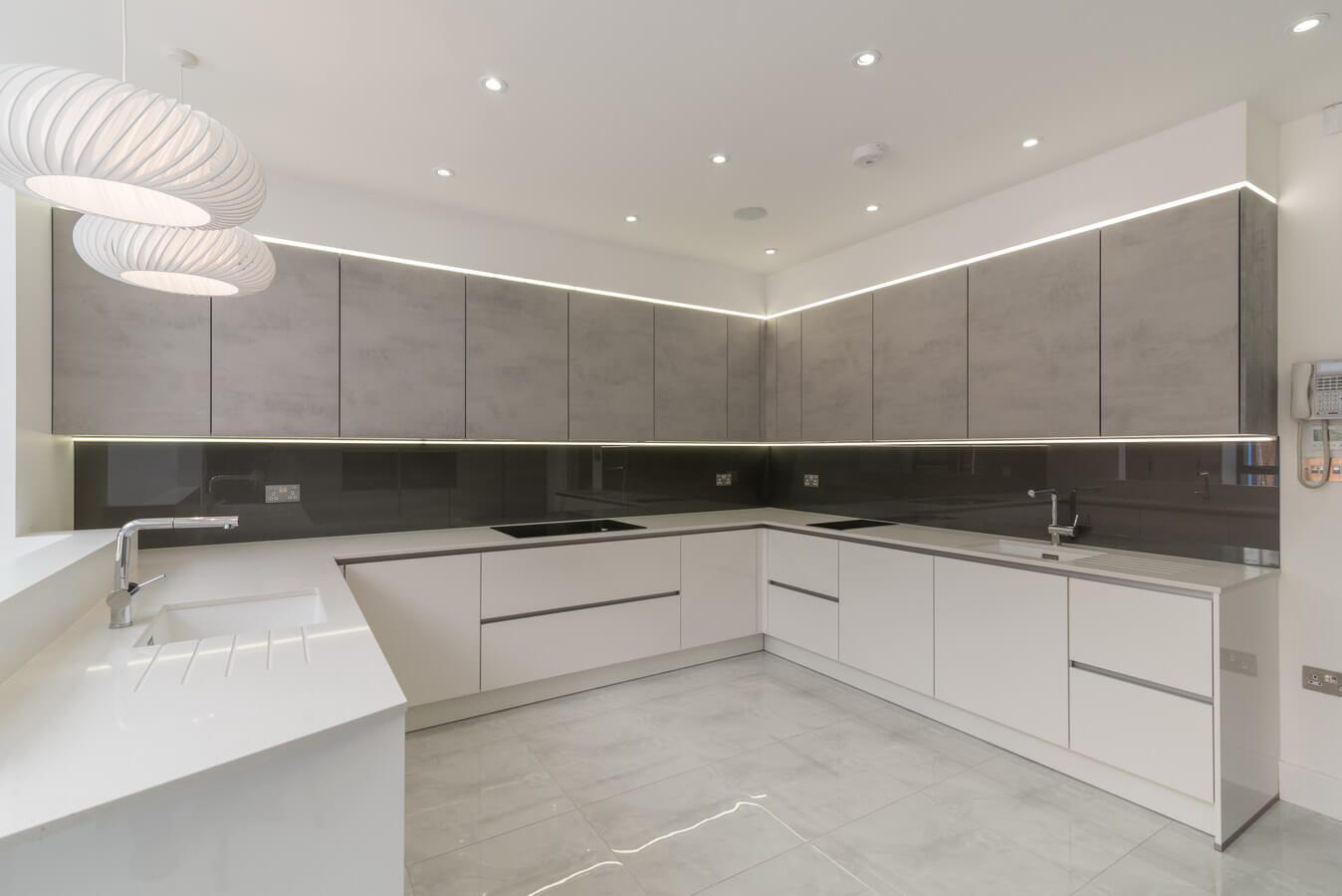 White modern kosher kitchen 2 jpg