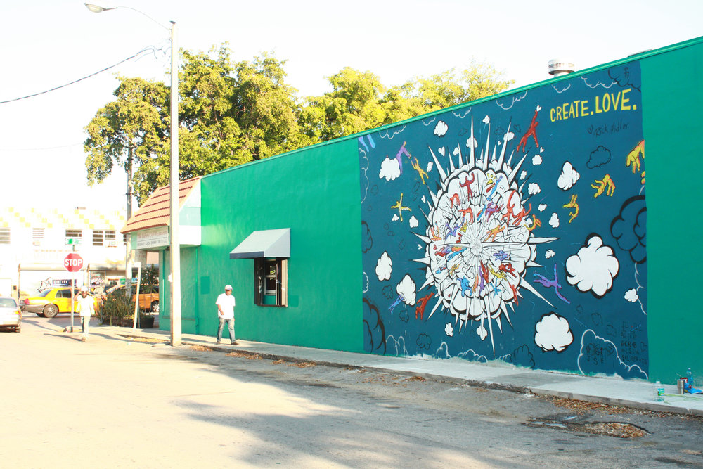The mural resides at  199 NE 82nd Terrace, Miami, FL 33138