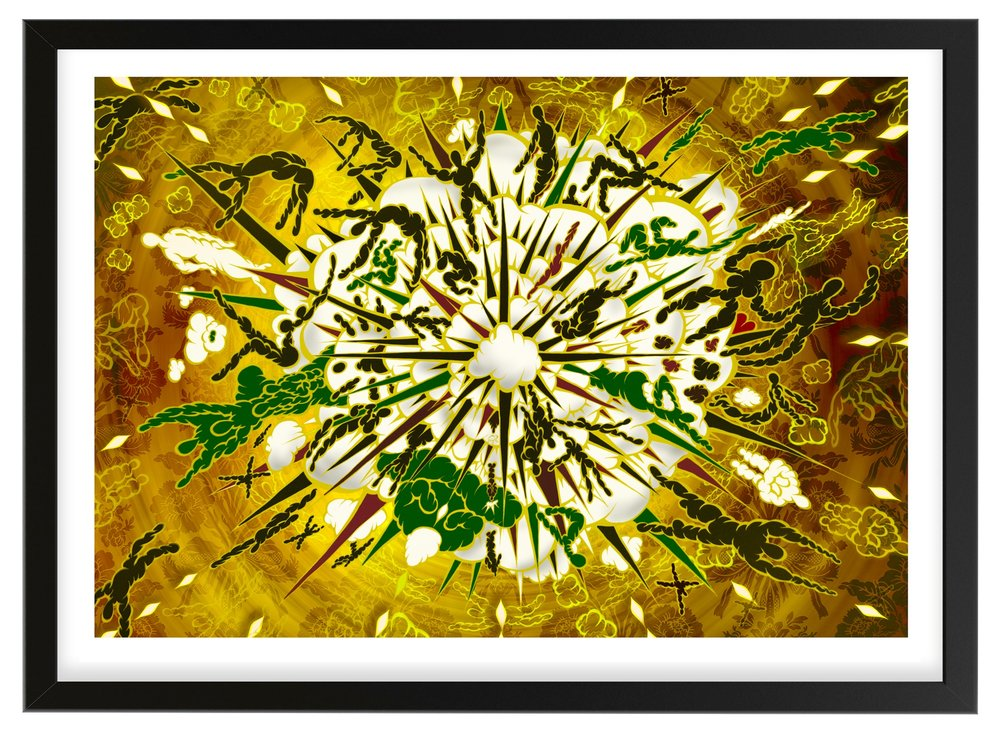 Big Bang Boom - Green and Gold Print