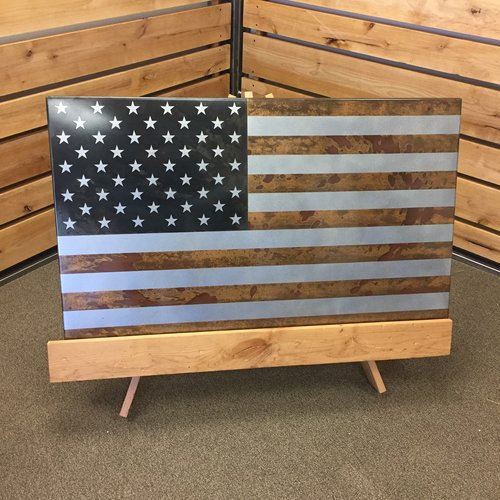 Well-liked Steel American Flag — Iron Mountain Designs DR87