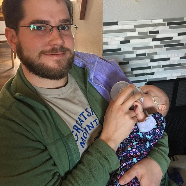 Happy uncle Patrick with sweet Miss Emerson. Life is good!!