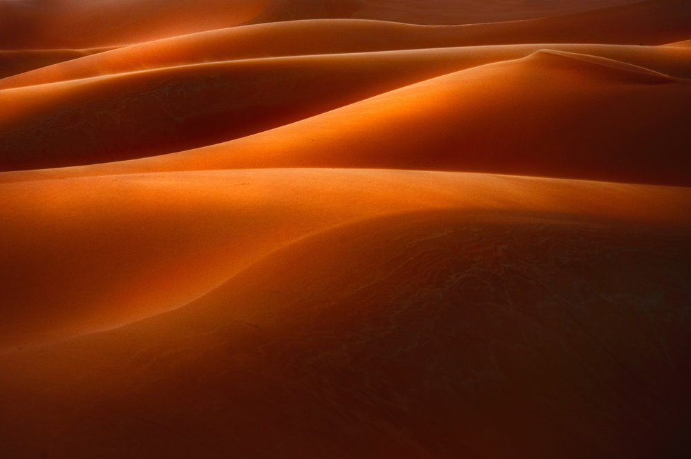 Dune Abstract A telephoto close up of a sand dune near Erg Chebbi in the Sahara desert