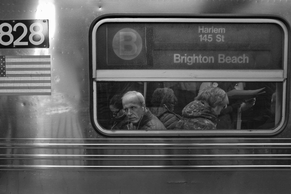 Brighton Beach B Train. Dekalb Avenue Station. Clinton Hill. Brooklyn. New York. 2016.