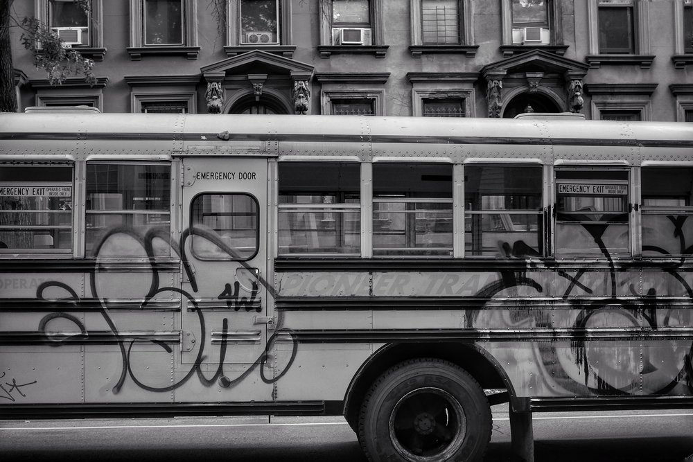 School Bus. Fort Greene. Brooklyn. New York. 2016.