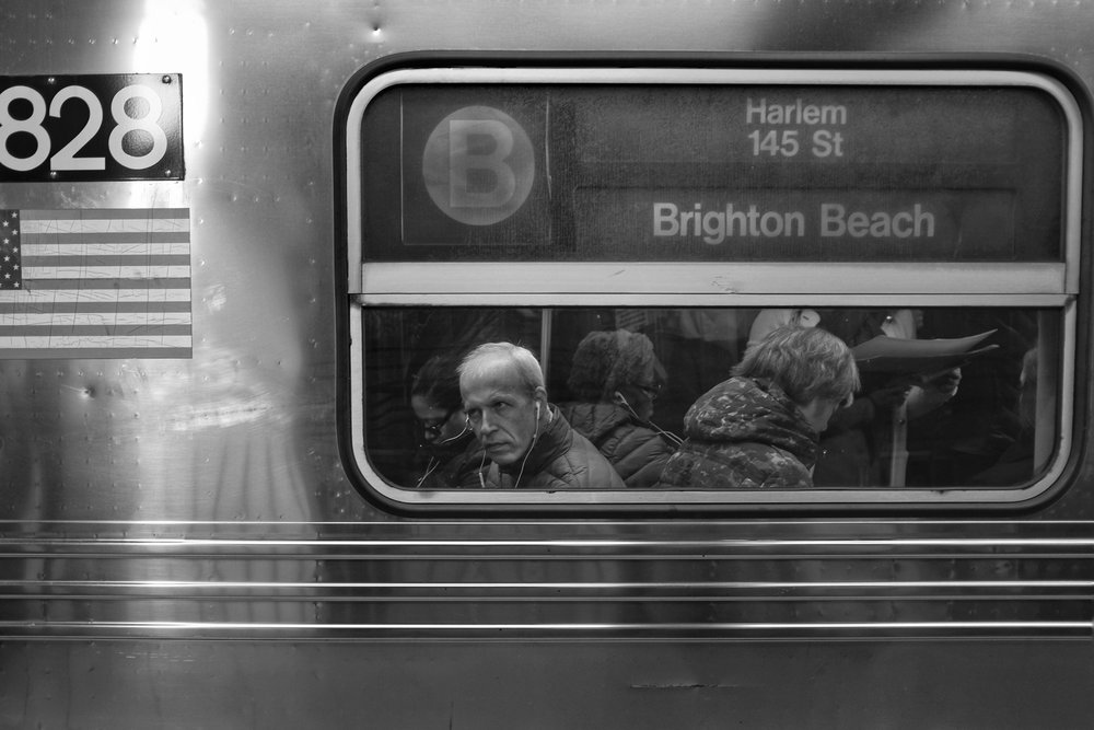 Brighton Beach B Train. Dekalb Avenue Station. Clinton Hill. Brooklyn. New York. 2016.