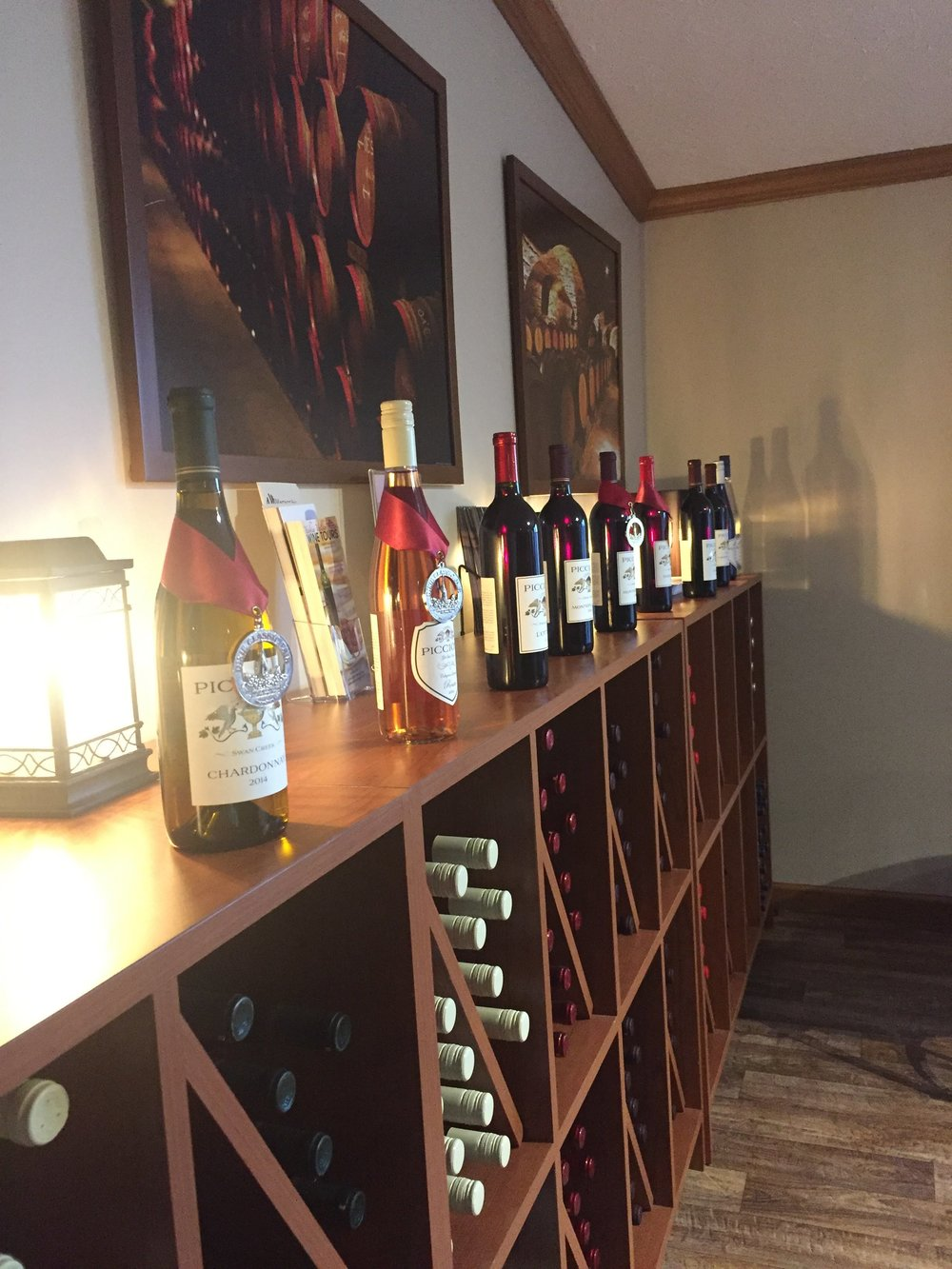 A view of some of their award-winning wines
