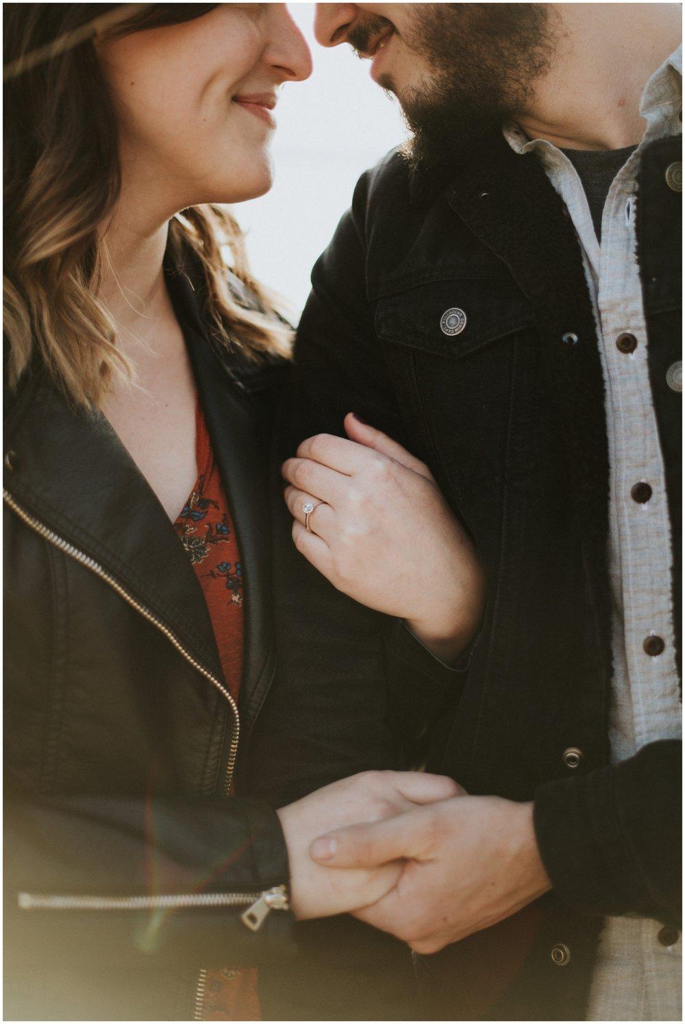 close up shot of engagement ring | Seattle Engagement Photographer www.riversandroadsphotography.com