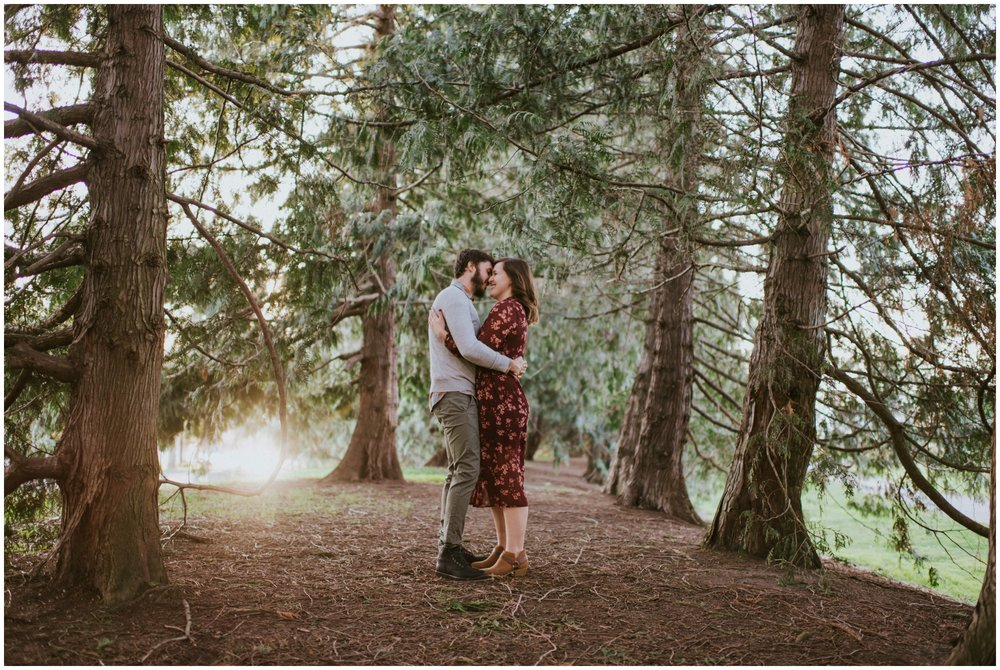 couple dancing in forest  | Seattle Engagement Photographer www.riversandroadsphotography.com