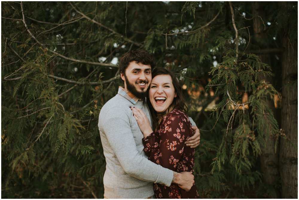 Engagement photos in the forest | Seattle Engagement Photographer www.riversandroadsphotography.com